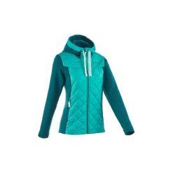 Sweter turystyczny NH500 Hybrid damski. Niebieskie swetry klasyczne damskie marki Vila, xs, z bawełny. Za 99,99 zł.