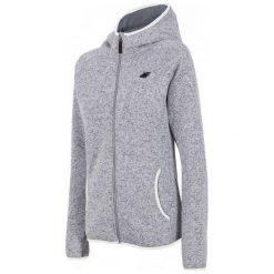 Bluzy polarowe: 4F Damska Bluza H4Z17 pld002 Jasny Szary Melanż S