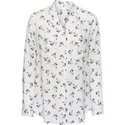 Bluzki asymetryczne: Bluzka z wycięciem z tyłu bonprix biel wełny z nadrukiem