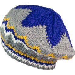 Czapka-beret damska ciepła z gwiazdką szaro niebieska. Niebieskie czapki zimowe damskie marki Art of Polo. Za 49,91 zł.