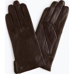 Pearlwood - Skórzane rękawiczki damskie, brązowy. Brązowe rękawiczki damskie Pearlwood, ze skóry. Za 299,95 zł.