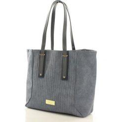 Listonoszki damskie: Miejska torba ze spinanymi bokami niebieska SYDNEY
