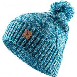 Czapka damska CAD617 - turkus melanż - Outhorn. Zielone czapki zimowe damskie Outhorn, na jesień, melanż. Za 34,99 zł.