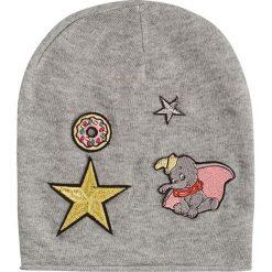 """Czapka beanie """"Disney"""" w kolorze szarym. Szare czapki zimowe damskie Codello, z aplikacjami, z materiału. W wyprzedaży za 85,95 zł."""