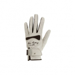 Rękawiczki jeździeckie Hexagirl damskie. Brązowe rękawiczki damskie FOUGANZA, z elastanu. Za 59,99 zł.