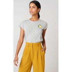 Rut&Circle T-shirt Lemon - Grey. Zielone t-shirty damskie marki Rut&Circle, z dzianiny, z okrągłym kołnierzem. Za 80,95 zł.