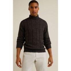 Mango Man - Sweter Malevich. Szare swetry klasyczne męskie Mango Man, l, z bawełny. Za 199,90 zł.