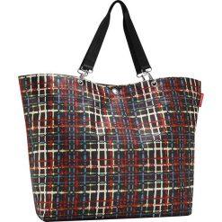 Shopper bag damskie: Shopper bag z kolorowym wzorem – 68 x 45,5 x 20 cm
