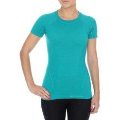 Bluzki sportowe damskie: Brubeck Koszulka damska z krótkim rękawem Active Wool turkusowa r. L (SS11700)