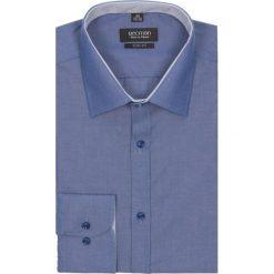 Koszule męskie na spinki: koszula bexley 1983 długi rękaw slim fit granatowy