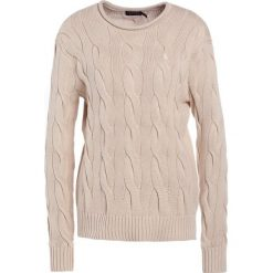 Swetry klasyczne damskie: Polo Ralph Lauren BOXY LONG SLEEVE Sweter natural