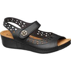 Rzymianki damskie: sandały damskie Easy Street czarne