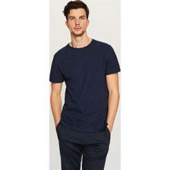T-shirty męskie: T-shirt z wyrazistą strukturą – Granatowy