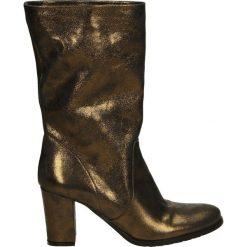 Kozaki - 8007 POL BRON. Brązowe buty zimowe damskie marki Venezia, ze skóry. Za 269,00 zł.