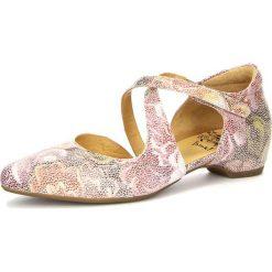 """Rzymianki damskie: Skórzane sandały """"Imma"""" z kolorowym wzorem"""