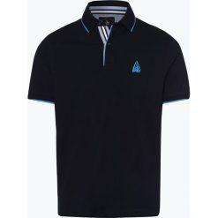 Andrew James Sailing - Męska koszulka polo, niebieski. Niebieskie koszulki polo Andrew James Sailing, m, z haftami, z materiału. Za 129,95 zł.