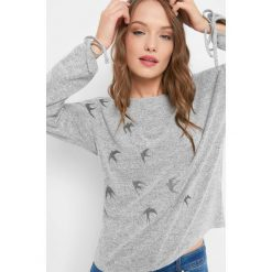 Koszulka z haftem. Szare t-shirty damskie Orsay, xs, z haftami, z dzianiny. Za 69,99 zł.