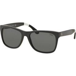 Polo Ralph Lauren - Okulary. Szare okulary przeciwsłoneczne męskie wayfarery marki Polo Ralph Lauren, z acetatu, prostokątne. Za 549,90 zł.