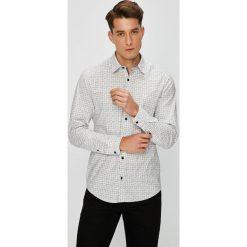 S. Oliver - Koszula. Szare koszule męskie na spinki S.Oliver, l, z bawełny, z klasycznym kołnierzykiem, z długim rękawem. Za 159,90 zł.