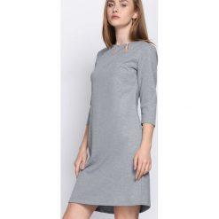 Sukienki: Jasnoszara Sukienka Proper Date