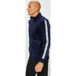 Tommy Jeans - Bluza. Czarne bluzy męskie rozpinane Tommy Jeans, l, z bawełny, bez kaptura. Za 499,90 zł.