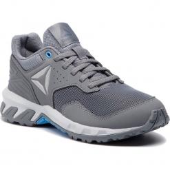 Buty Reebok - Ridgerider Trail 4.0 CN6266 Grey/Blue/Silver. Szare buty do biegania damskie marki Reebok, l, z dzianiny, z okrągłym kołnierzem. Za 229,00 zł.