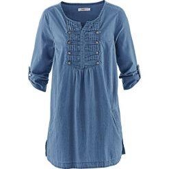 """Bluzka, krótki rękaw bonprix niebieski """"stone"""". Niebieskie bluzki damskie bonprix, z krótkim rękawem. Za 99,99 zł."""