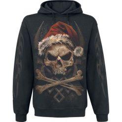 Bluzy męskie: Spiral Rock Santa Bluza z kapturem czarny
