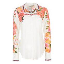 Desigual Koszula Damska Laurene M Biały. Białe koszule damskie Desigual, m, w kolorowe wzory, z materiału. Za 300,00 zł.