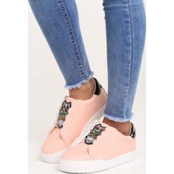 Różowe Buty Sportowe Milion Lights. Pomarańczowe buty sportowe damskie marki Born2be, z materiału. Za 79,99 zł.