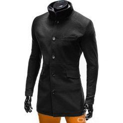 PŁASZCZ MĘSKI VICTOR - CZARNY. Czarne płaszcze męskie Ombre Clothing, m, z materiału, eleganckie. Za 159,00 zł.