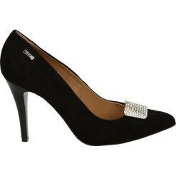 Czółenka - 2727 NERO 14A. Czarne buty ślubne damskie Venezia, ze skóry. Za 189,00 zł.