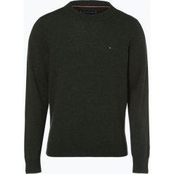 Tommy Hilfiger - Sweter męski – Heather, zielony. Czarne swetry klasyczne męskie marki TOMMY HILFIGER, l, z dzianiny. Za 449,95 zł.