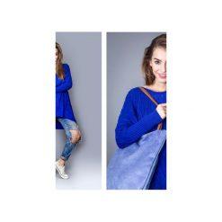 Torba basic blue. Niebieskie shopper bag damskie marki drops, z bawełny. Za 109,00 zł.