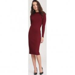 Bordowa Sukienka Powder Grey. Czerwone sukienki dzianinowe marki other, na jesień, l. Za 89,99 zł.