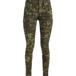 GStar POWEL MID SKINNY COJ  Jeansy Slim Fit olive. Zielone jeansy damskie marki G-Star, z bawełny. W wyprzedaży za 419,25 zł.