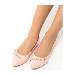 Różowe Baleriny Sipa. Czerwone baleriny damskie marki L37, z lakierowanej skóry. Za 49,99 zł.