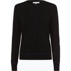 Tommy Hilfiger - Sweter damski z dodatkiem kaszmiru, czarny. Czarne swetry klasyczne damskie TOMMY HILFIGER, l, z kaszmiru, z kontrastowym kołnierzykiem. Za 599,95 zł.