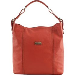 Torebki klasyczne damskie: Skórzana torebka w kolorze czerwonym – (S)42 x (W)34 x (G)13 cm