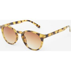 Okulary przeciwsłoneczne damskie aviatory: Rogowe okulary przeciwsłoneczne w panterkę