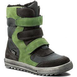 Buty zimowe chłopięce: Śniegowce MIDO – 466 Szaro-Zielony