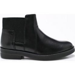 S. Oliver - Botki. Czarne buty zimowe damskie S.Oliver, z materiału, z okrągłym noskiem. W wyprzedaży za 159,90 zł.