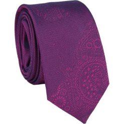 Jedwabny krawat KWRR000082. Niebieskie krawaty męskie Giacomo Conti, z jedwabiu. Za 129,00 zł.