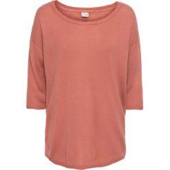 Sweter z plisą guzikową bonprix dymny brzoskwiniowy. Czerwone swetry klasyczne damskie bonprix. Za 59,99 zł.