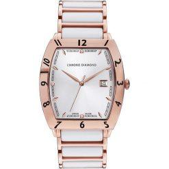 """Zegarki męskie: Zegarek kwarcowy """"Leandro"""" w kolorze różowozłoto-białym"""