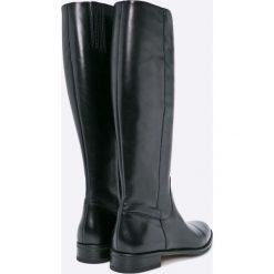 Gino Rossi - Kozaki Nevia. Szare buty zimowe damskie marki Gino Rossi, z materiału, z okrągłym noskiem. Za 749,90 zł.