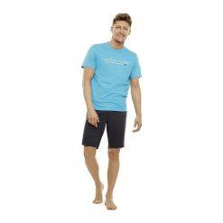 Piżama Tour 35714-50X Turkusowo-szara. Szare piżamy męskie marki Henderson. Za 99,90 zł.