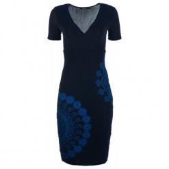 Desigual Sukienka Damska Elif Xs Ciemny Niebieski. Niebieskie długie sukienki Desigual, xs, z długim rękawem. Za 449,00 zł.