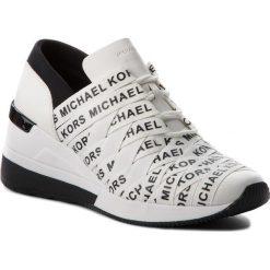 Sneakersy MICHAEL MICHAEL KORS - Cydney Trainer 43T8CYFS1D Opticwht/Blk. Czarne sneakersy damskie marki MICHAEL Michael Kors, z gumy, przed kolano, na wysokim obcasie. Za 759,00 zł.