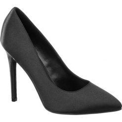 Szpilki damskie Catwalk czarne. Czarne szpilki marki Catwalk, z materiału, na wysokim obcasie. Za 99,90 zł.